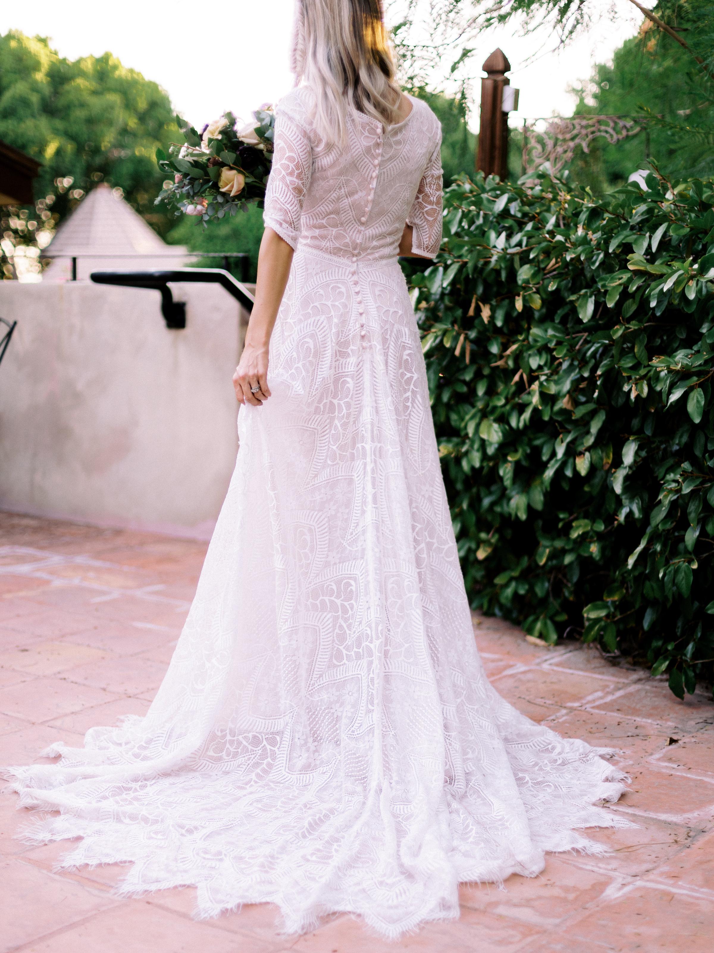 Boho Chic Wedding Dress Long Sleeve Wright House Truth And Beauty Photography
