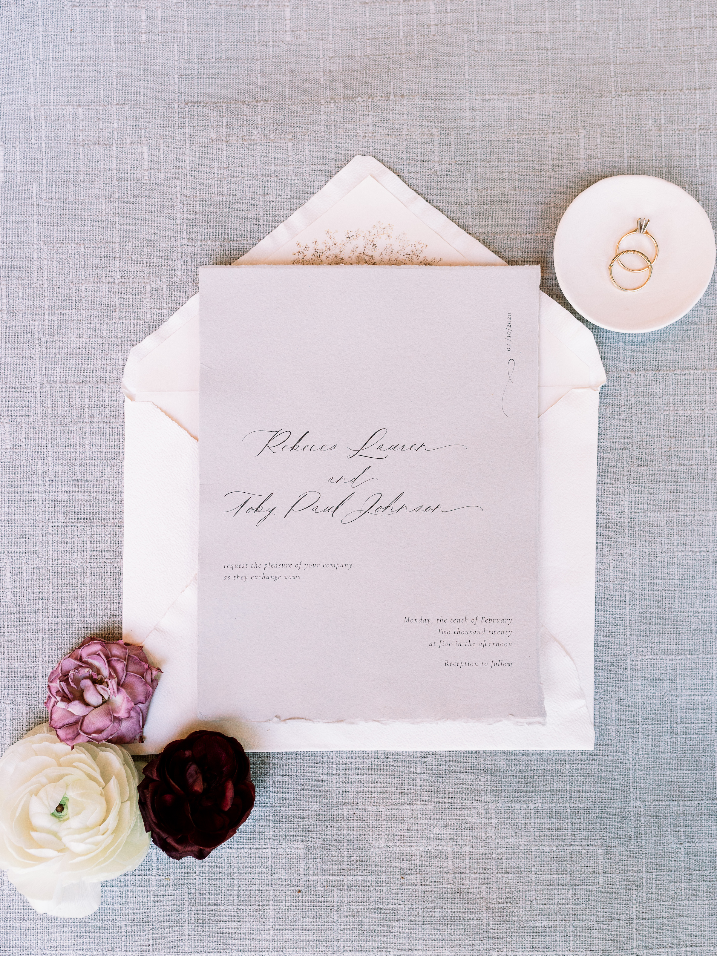 Lettering By GRG Letterpress Wedding Invites Romantic Wright House Truth And Beauty Photography