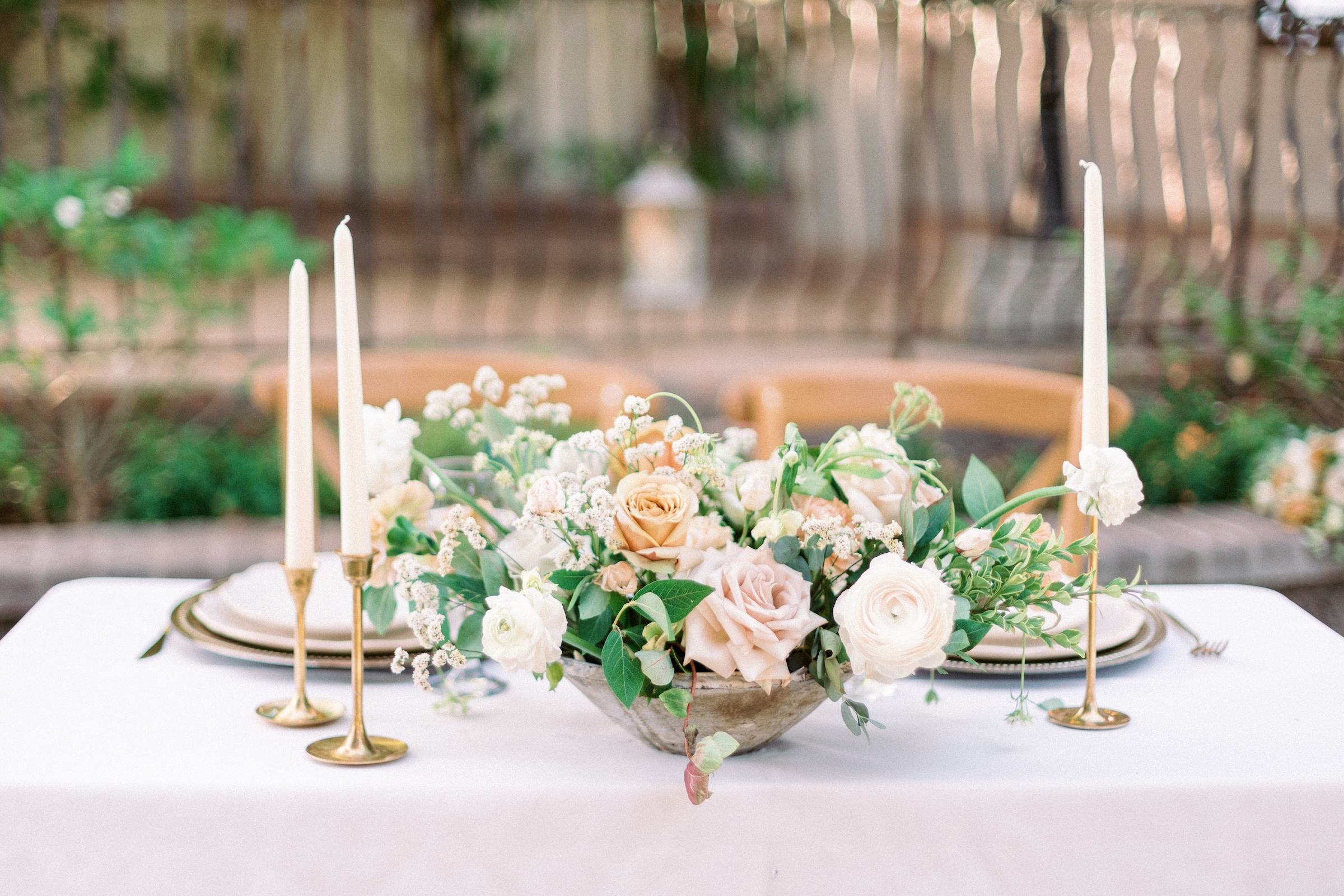 Romantic Gold Green White Modern Rose Wedding Decor Wright House Truth And Beauty Photography