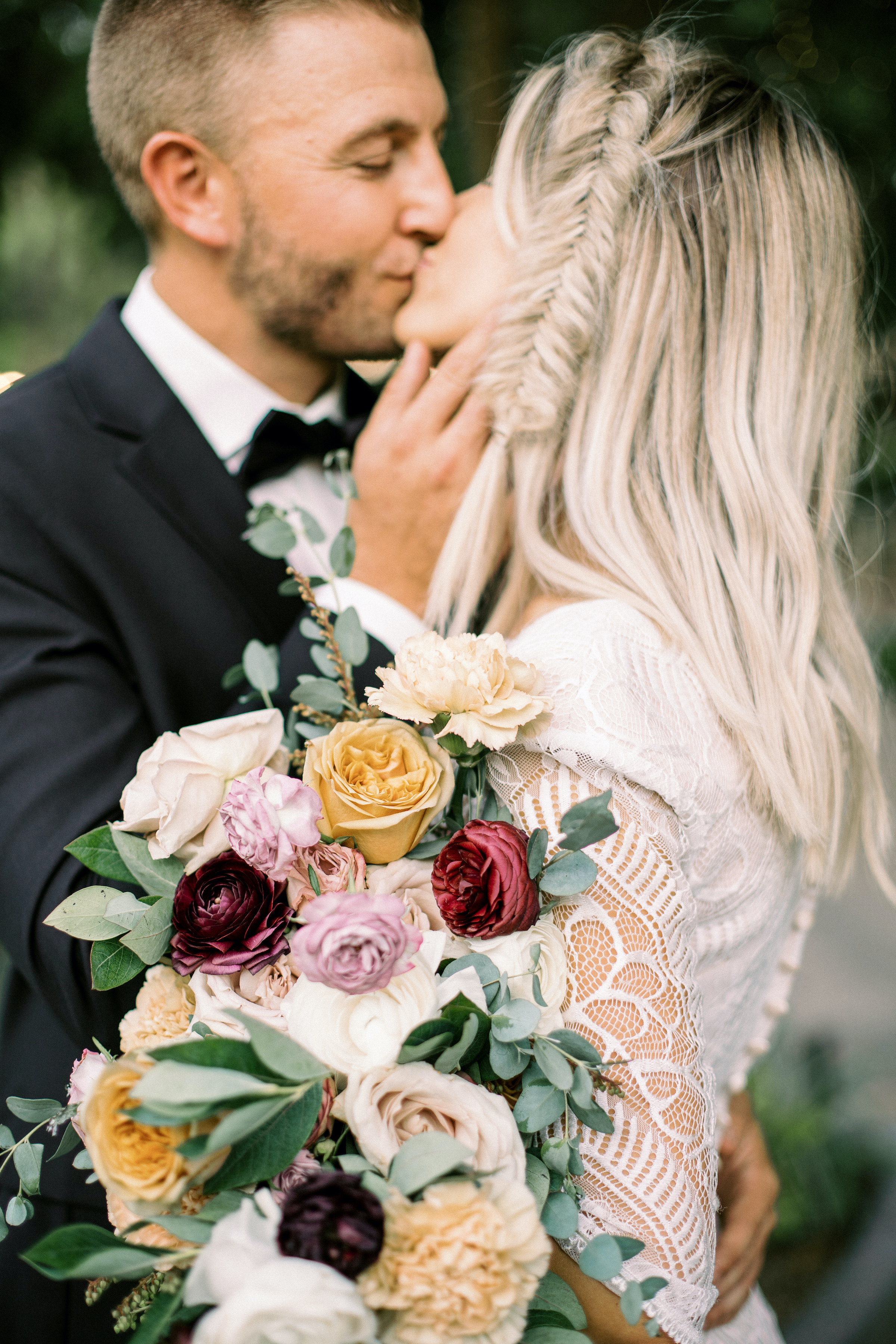 Romantic Modern Rose Bouquet Purple Gold Wright House Truth And Beauty Photography 2