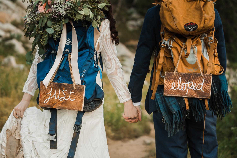 Lake Mary Salt Lake City Utah Hiking Elopement Alexandra Amante Forever To The Moon Boho Long Sleeve Wedding Dress 14