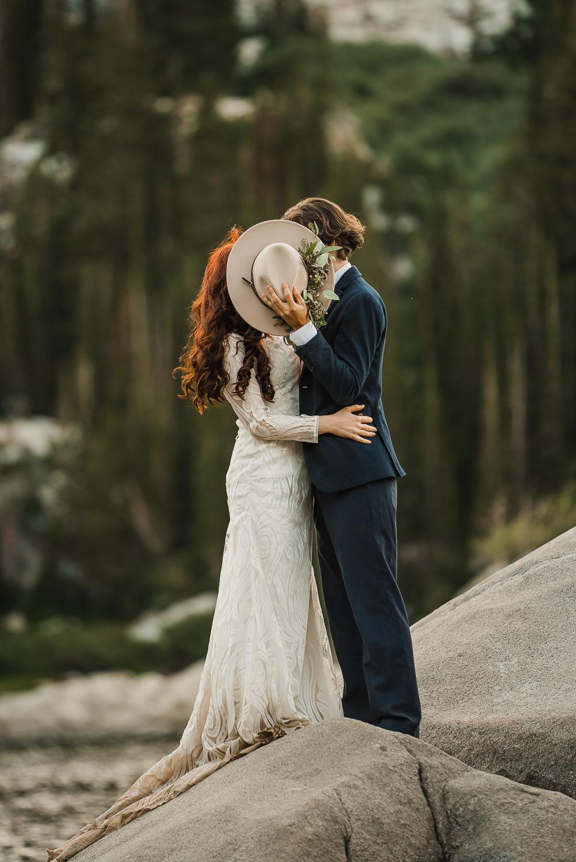 Lake Mary Salt Lake City Utah Hiking Elopement Alexandra Amante Forever To The Moon Boho Long Sleeve Wedding Dress 21