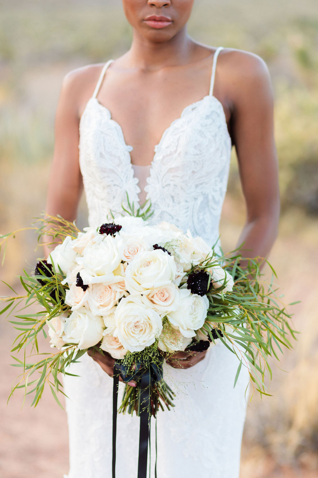 Black And White Bridal Wedding Bouquet Flowers Elizabeth Burgi Photography 6