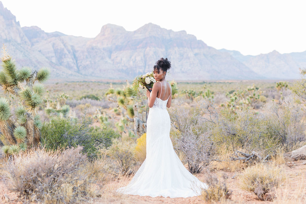 Edgy Romantic Wedding Red Rock Canyon Las Vegas Bride Elizabeth Burgi Photography 11