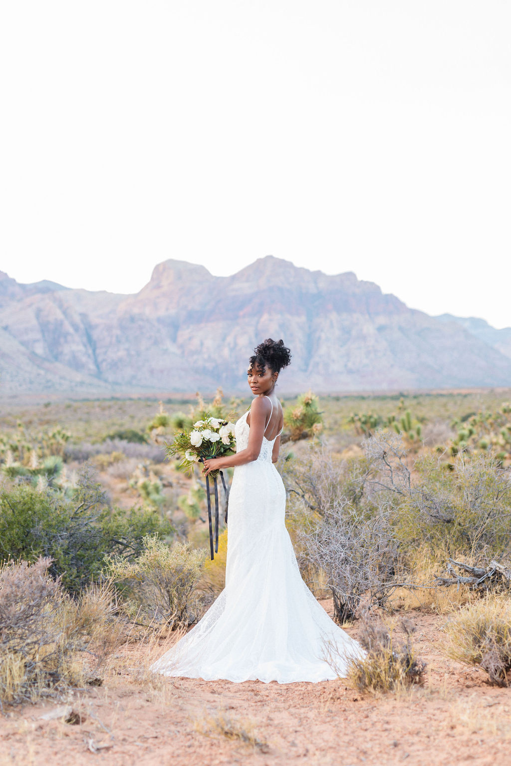 Edgy Romantic Wedding Red Rock Canyon Las Vegas Bride Elizabeth Burgi Photography 13