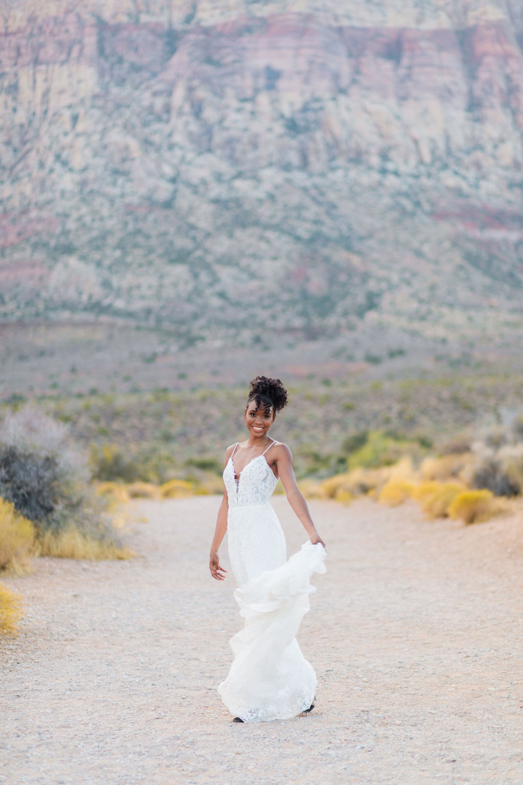 Edgy Romantic Wedding Red Rock Canyon Las Vegas Bride Elizabeth Burgi Photography 16