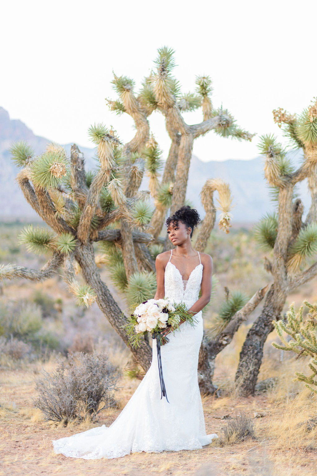 Edgy Romantic Wedding Red Rock Canyon Las Vegas Bride Elizabeth Burgi Photography 5