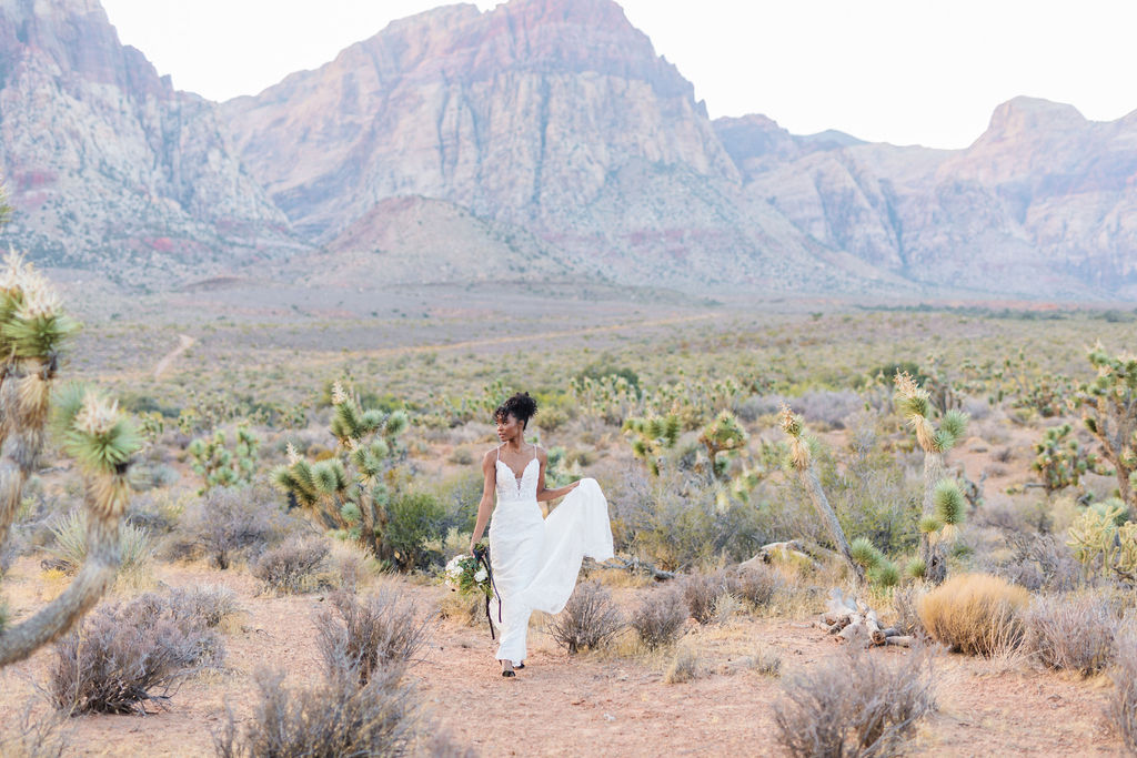 Edgy Romantic Wedding Red Rock Canyon Las Vegas Bride Elizabeth Burgi Photography 9