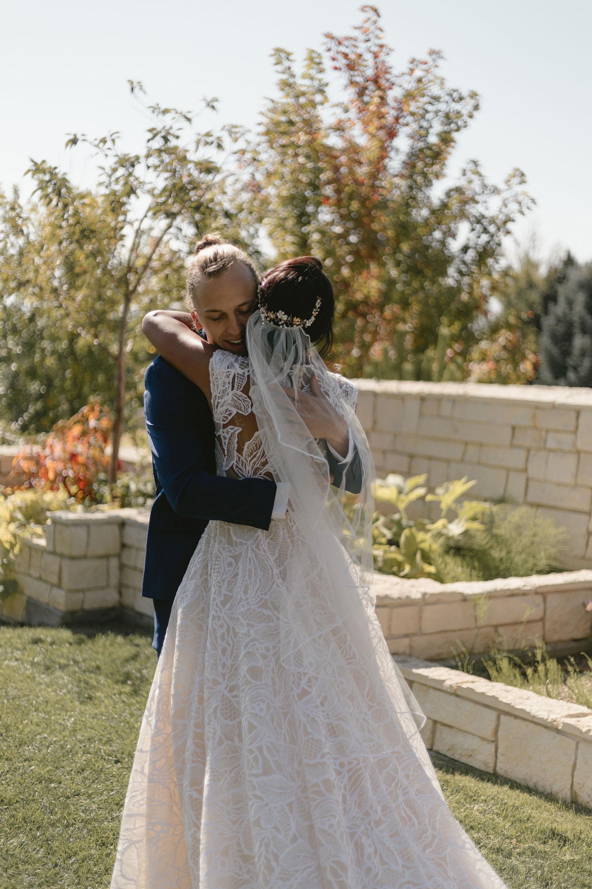 Modest Lace Wedding Dress Ballgown Backyard Summer Wedding Princess Kaiulani Tabernero 1