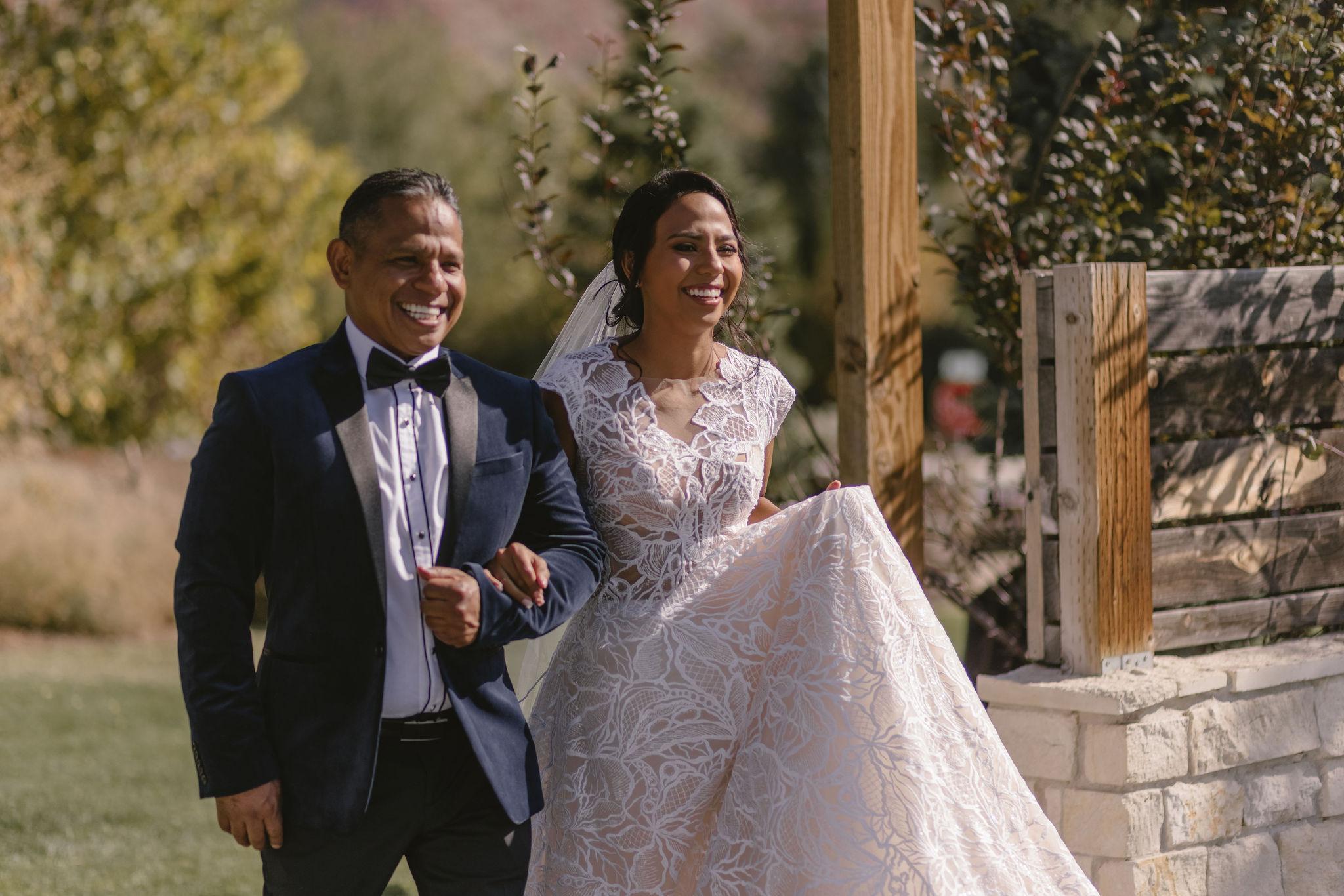 Modest Lace Wedding Dress Ballgown Backyard Summer Wedding Princess Kaiulani Tabernero 5