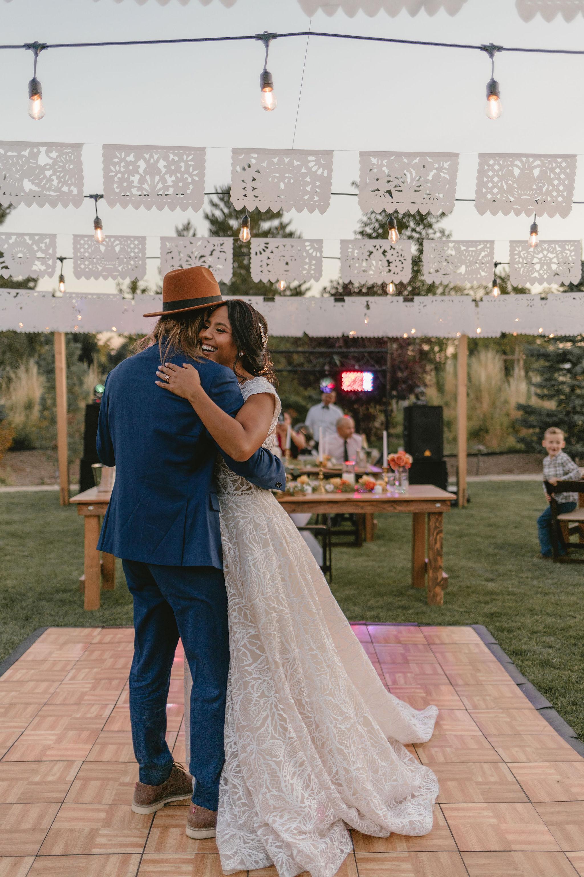 Papel Picado Wedding Banners Eco Friendly Backyard Summer Wedding Princess Kaiulani Tabernero 4