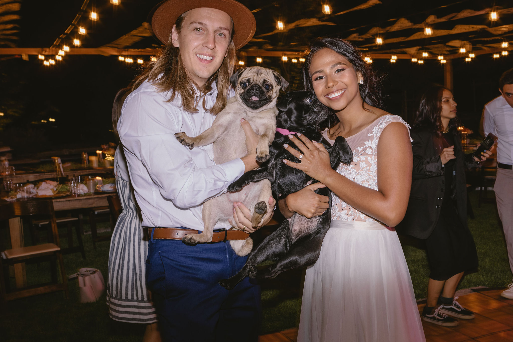 Pugs Couple Backyard Summer Wedding Princess Kaiulani Taberno 1