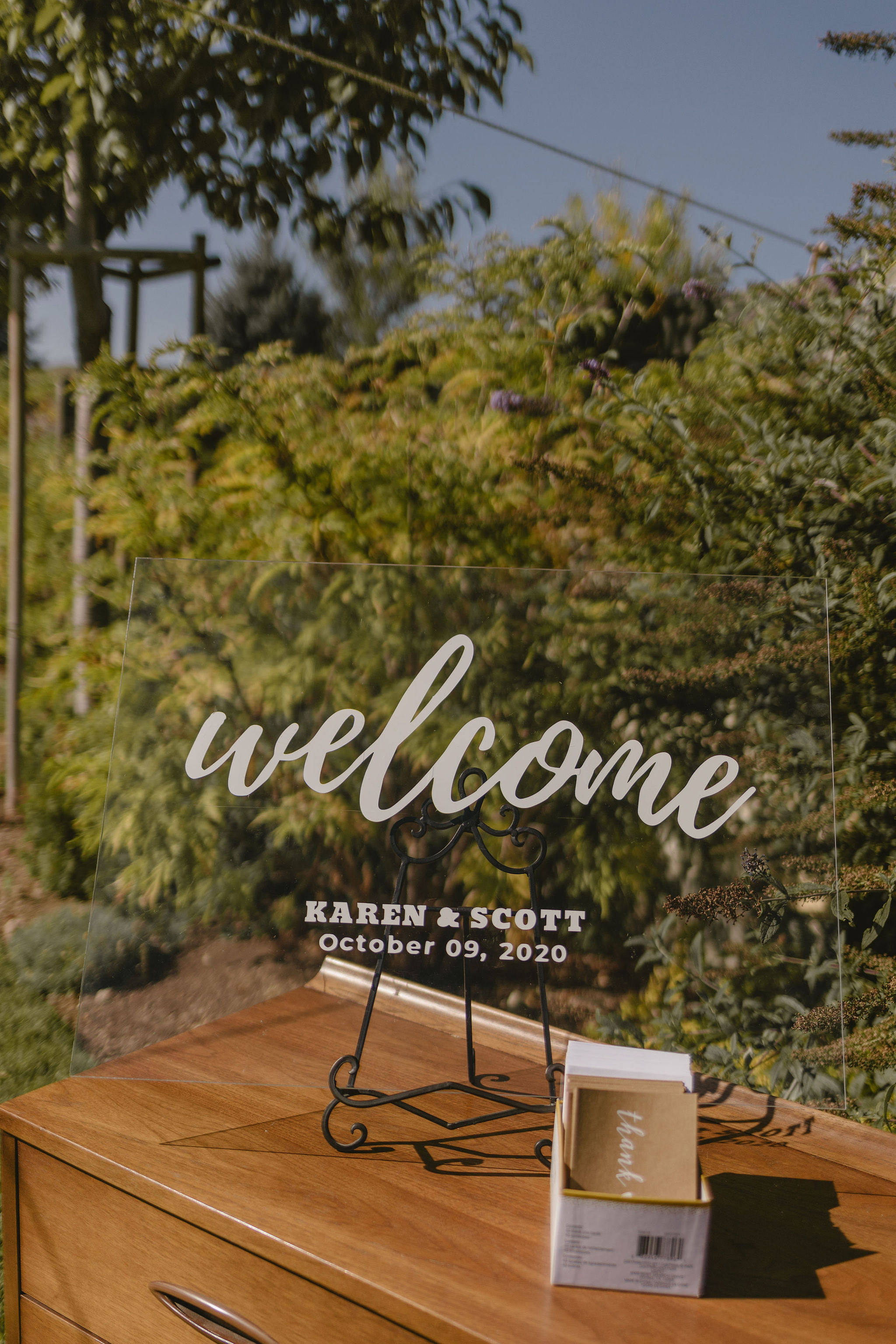 Welcome Calligraphy Wedding Sign Backyard Wedding Princess Kaiulani Tabernero